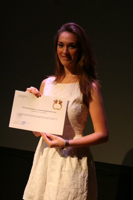 Sophia received the Graduation Certificate after completing the Brasov International Film Workshops taught by maestro Bruno Pischiutta