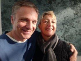 Paolo De Giorgio with film director Flaminia Graziadei
