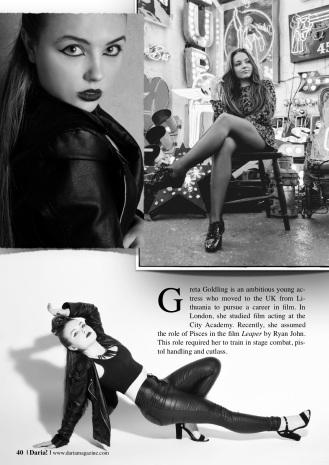 Greta in Daria! Magazine 2019